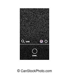 Modern video streaming app interface mock up.