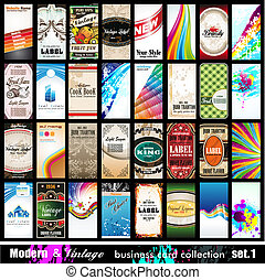 Modern & Vintage Business Card Collection - Set 1 - Modern &...