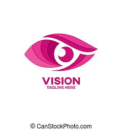 Modern vision and eye logo. Vector illustration.
