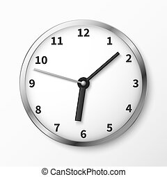 Modern wall clock face vector illustration