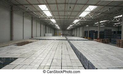 Modern warehouse full of goods