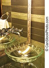 Modern Wash Basin - Image of a modern wash basin.