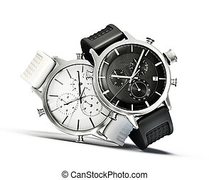 modern watches isolated on a white background