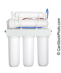Modern Water Filter - Modern triple water cleaning filter...