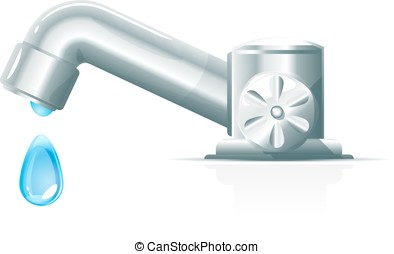 Modern Water Tap With Drop