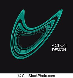 Modern wave lines abstract background. Action dynamic design