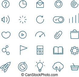Modern web and mobile application pictograms collection. ...