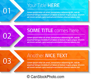 Modern web banners with triangle background and dark shadow