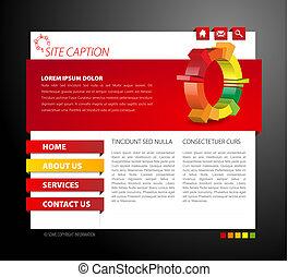 modern, webseite, schablone