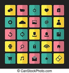 Modern Website Vector Icons Set.