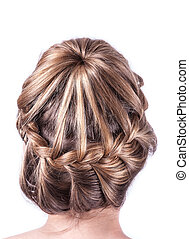 Modern weddting hairstyle - beauty wedding hairstyle rear...