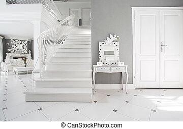 Modern white and gray interior