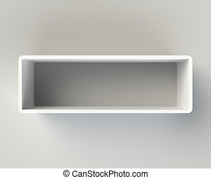 Modern White Book Shelf on the Wall - Modern White Book ...