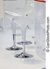 Modern white chair - Modern design of white chair for bar