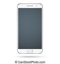 Modern white smartphone vector mockup