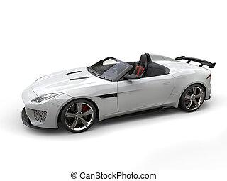 Modern white super sports car - studio shot