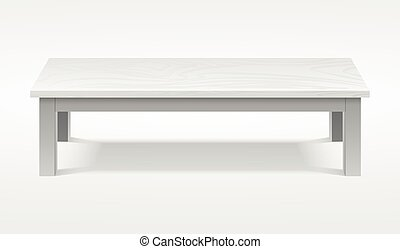 Modern white table, exhibition presentation desk vector...