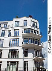 Townhouse Berlin a modern white townhouse seen in berlin stock photo search
