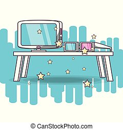 modern wide screen television vector illustration graphic...