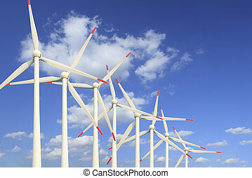 Modern wind turbines Green Energy