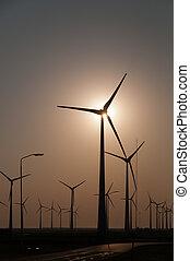 Modern wind turbines in the Netherlands - A modern wind...