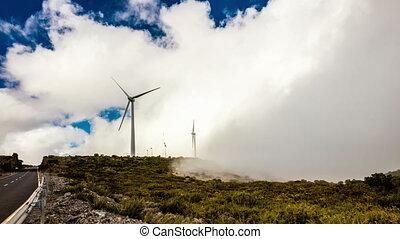 Modern windmills producing eco energy