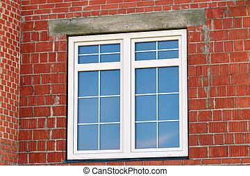 Modern window in building house