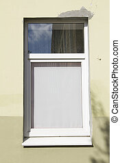 Modern window in old house