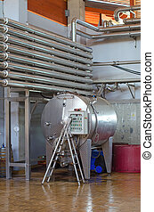 Modern wine manufacturing equipment