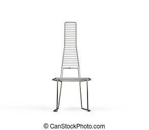 Modern wire armchair - front view