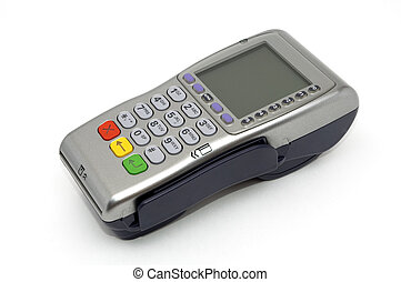 POS-terminal - Modern wireless POS-terminal with battery and...