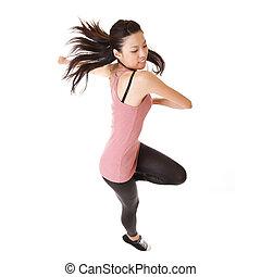 Modern woman jump
