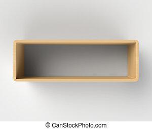 Modern Wooden Book Shelf on the Wal - Modern Wooden Book ...