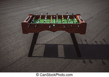 table football outdoors