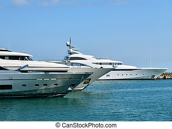 Luxury yacht in sochi seaport, russia  Luxury yachts and