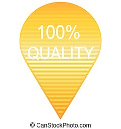 modern yellow 100% quality sign