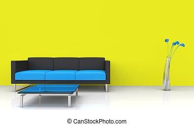 Modern Yellow Living Room