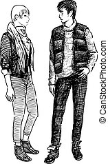 modern young couple