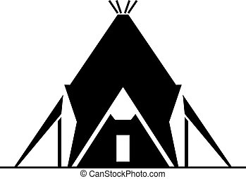 Modern yurt house, shade picture