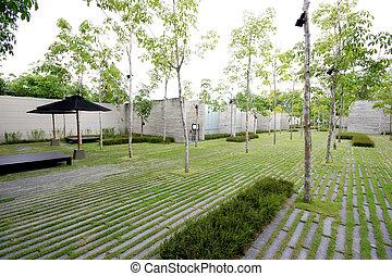 Modern Zen Garden Area