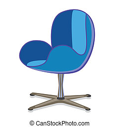 modernArmchair2 - Modern rotatable seat office armchair