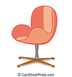 modernArmchair4 - Modern rotatable seat office armchair