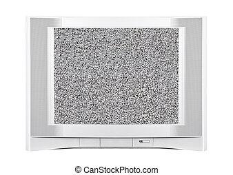moderne, électricité statique télévision, sérigraphie