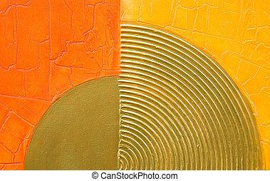 moderne, abstract, kunstwerk