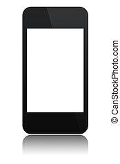 moderne, abstract, touchscreen, telefoon, vrijstaand
