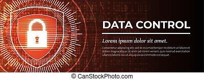 moderne, achtergrond., control., vector., data, rood