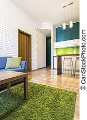 moderne, appartement, intérieur
