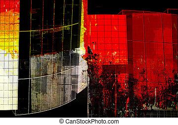 moderne architektur, -, abstrakt, zusammensetzung