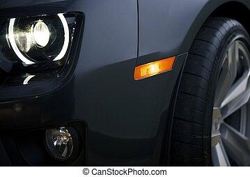 moderne, automobilen, closeup