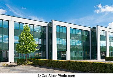 moderne, bâtiment bureau